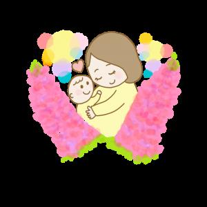 ルピナスと親子